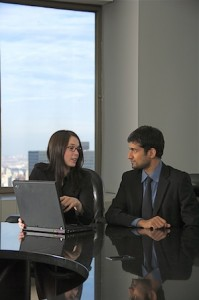 Client meeting for website design