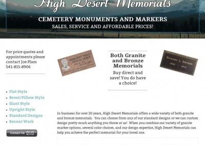 High Desert Memorials